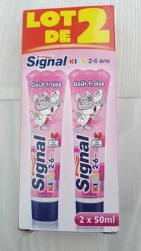 SIGNAL - Dentrifrice kids 2-6 ans goût fraise