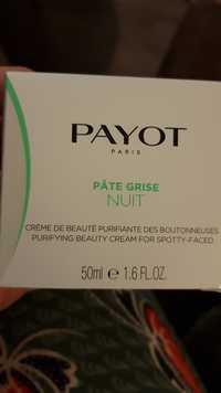 PAYOT - Pâte grise nuit - Crème de beauté purifiante