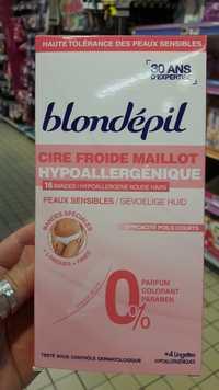 Blondépil - Cire froide maillot hypoallergénique