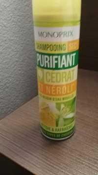 MONOPRIX - Shampooing sec purifiant cédrat et néroli
