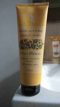 DELIPLUS - Flores blancas - Aceite en crema para el cuerpo