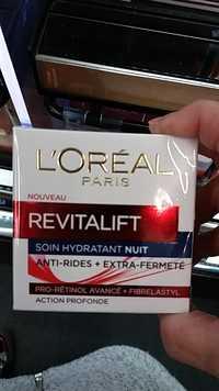 L'Oréal - Revitalift soin hydratant nuit anti-rides + extra -fermeté