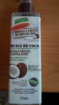 PALMER'S - Huile sèche capillaire noix de coco