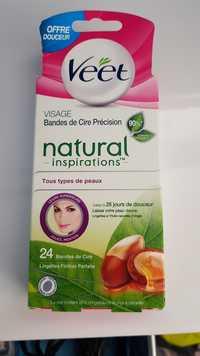 Veet - Natural inspirations - Bandes de cire précision pour visage