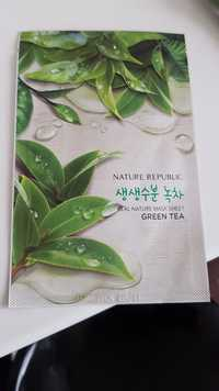 NATURE REPUBLIC - Green tea - Real nature mask sheet