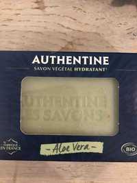AUTHENTINE - Savon végétal hydratant à l'aloe vera