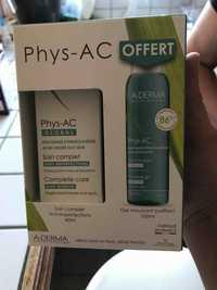A-Derma - Phys-Ac - Soin complet anti-imperfections et gel moussant purifiant