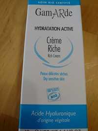 GAMARDE - Hydratation active - Crème riche - Peaux délicates sèches