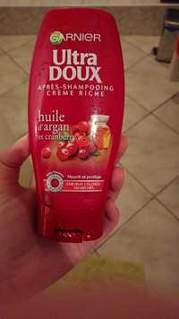 GARNIER - Ultra Doux - Après-shampooing crème riche