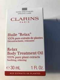 """Clarins - Huile """"relax"""" - Body treatment oil"""