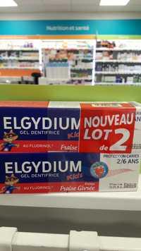 ELGYDIUM - Gel dentifrice kids arôme fraise givrée
