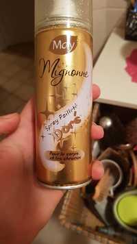 MAY - Mignonne - Spray pailleté doré pour corps et cheveux