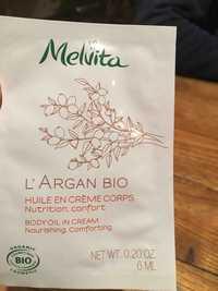 Melvita - L'argan bio - Huile en crème corps