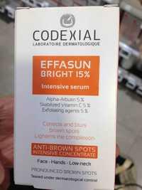 Codexial - Effasun bright - Anti-brown spots intensive serum