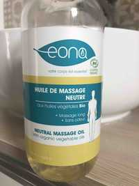 EONA - Huile de massage neutre aux huiles végétales bio