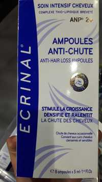 ECRINAL - Ampoules anti-chute - Soin intensif cheveux