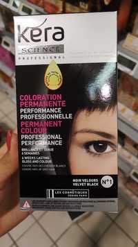 LES COSMÉTIQUES DESIGN PARIS - Kéra Science - Coloration permanente N°1 noir velours