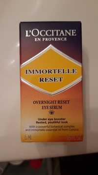 L'Occitane en Provence - Immortelle reset - Eye serum