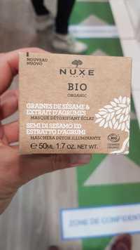 NUXE - Graines de sésame & extrait d'agrumes - Masque détoxifiant éclat bio