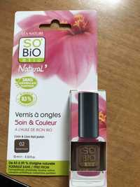 So'Bio étic - Soin & couleur - Vernis à ongles  02 tendre taupe