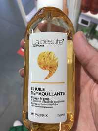 MONOPRIX - La beauté du visage - L'huile démaquillante