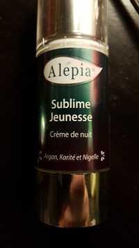 Alepia - Sublime jeunesse - Crème de nuit