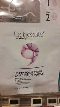MONOPRIX - La beauté du visage - Le masque tissu cure de jeunesse