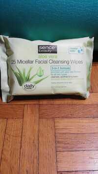 SENCE - Aloe vera - Micellar facial cleasing wipes