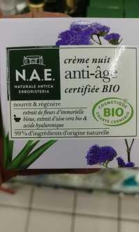 Naturale Antica Erboristeria - Crème nuit anti-âge certifiée bio
