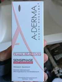 A-DERMA - Peaux réactives sensiphase - Masque apaisant
