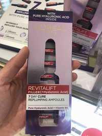 L'Oréal Paris - Revitalift filler - 7 day cure replumping ampoules