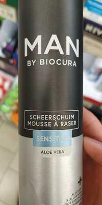 MAN BY BIOCURA - Sensitive - Mousse à raser à l'aloë vera