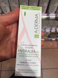 A-Derma - Hydralba - Crème hydratante légère