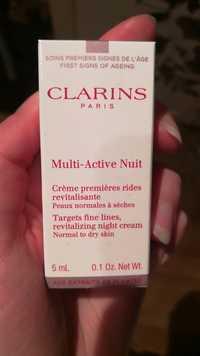 Clarins - Multi-active nuit - Crème premières rides revitalisante