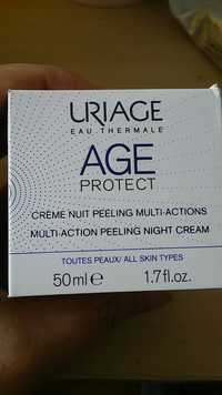Uriage - Age protect - Crème nuit peeling multi-actions