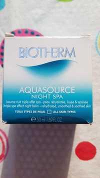Biotherm - Aquasource - Baume nuit triple effet spa