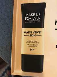 Make up for ever - Matte velvet skin - Fond de teint haute couvrance 24 h