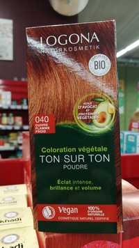 Logona - Coloration végétale ton sur ton poudre 040 cuivre flamme froid