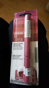 MAYBELLINE - Superstay ink crayon - Rouge à lèvres crayon mat