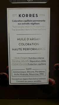 KORRES - Huile d'argan - Coloration haute performance