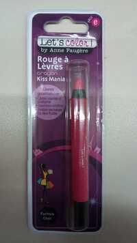 ANNE FAUGÈRE - Let's color - Rouge à lèvres crayon kiss mania fuchsia choc