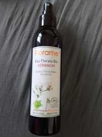 FLORAME - Eau florale bio géranium