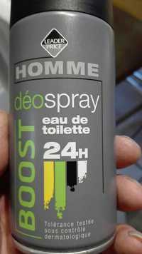Leader Price - Homme - Déospray boost eau de toilette 24 h