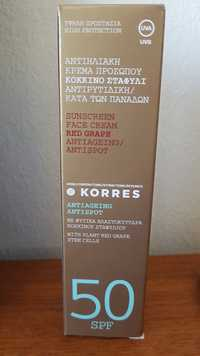 KORRES - Sunscreen face cream red grape SPF50