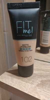 Maybelline - Fit me! - Matte + Poreless 102
