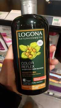 Logona - Color Reflex - Shampooing sans sulfates noisette bio