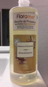 FLORAME - Essence d'Amande - Douche de Povence aux huiles essentielles bio