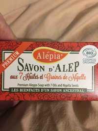 Alepia - Savon d'Alep aux 7 huiles et graines de Nigelle