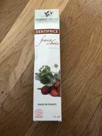 COSMO NATUREL - Dentifrice fraise des bois bambino