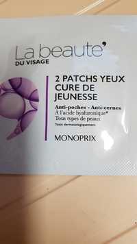 MONOPRIX - La beauté du visage - 2 patchs yeux cure de jeunesse